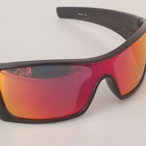 Oakley Batwolf Sunglasses - Black and Ruby Iridium
